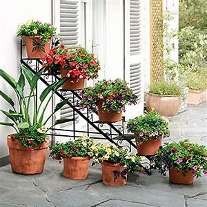 Blumenregal Metall Balkon : mehr gr n mit pflanzenetageren schultheiss wohnblog ~ Buech-reservation.com Haus und Dekorationen