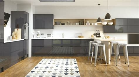 cuisine mur meuble blanc cuisine gris anthracite 56 idées pour une cuisine chic