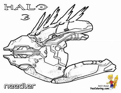 Halo Coloring Pages Needler Sheet Colouring Xbox