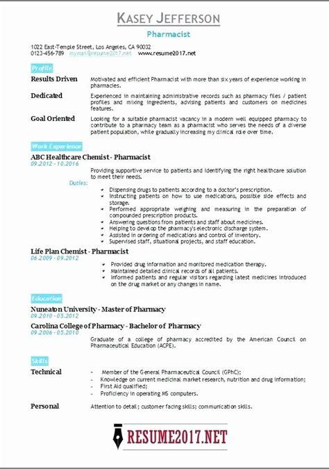 pharm resume format resume sample resume