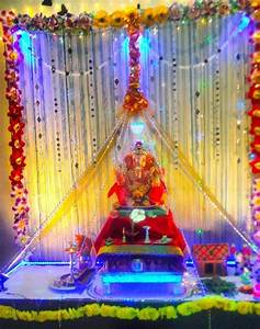 Image result for ganpati decoration ideas for home with ...