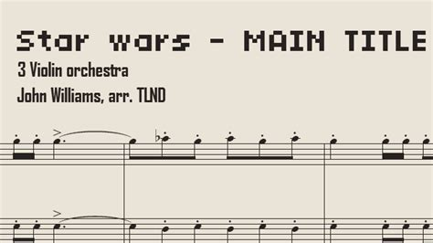 The music includes scans of public domain editions and editions we have created ourselves. Star Wars Sheet Music Violin Trio version - Main Theme - YouTube