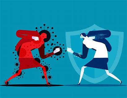 Covid Fighting Woman Character Related Clipart Vectors