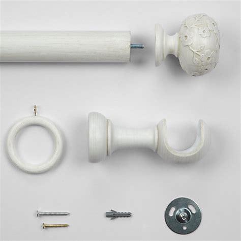buy lewis maison curtain pole kit distressed white