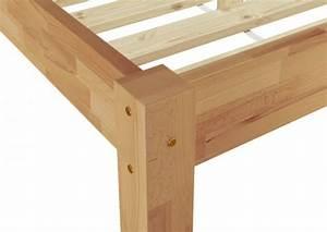 Bett Holz 90x200 : m bett 90x200 buche massiv mit lattenrollrost u matratze einzel doppelbetten ~ Markanthonyermac.com Haus und Dekorationen