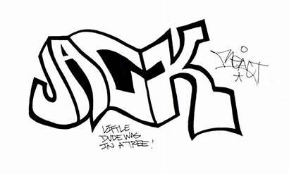 Graffiti Sketch Jack Drawing Ve Something Got