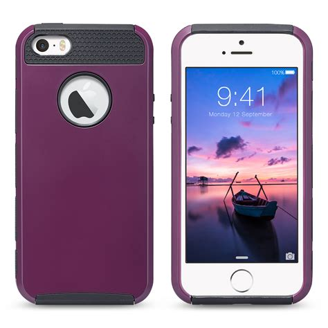 rugged iphone 5s shockproof rugged hybrid rubber cover for apple