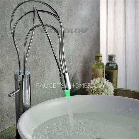 cool vessel tall automatic sensing led bathroom sink faucet