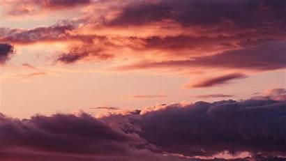 4k Clouds Pink Sky Sunset Background Uhd