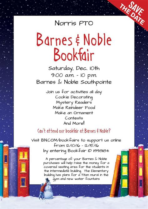Barnes And Noble Event Calendar by Barnes And Noble Bookfair Benefits Norris Pto Norris