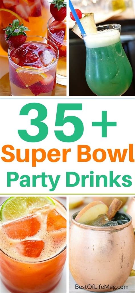 35 Super Bowl Party Drinks And Cocktails  The Best Of