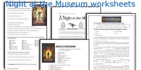 at the museum worksheets