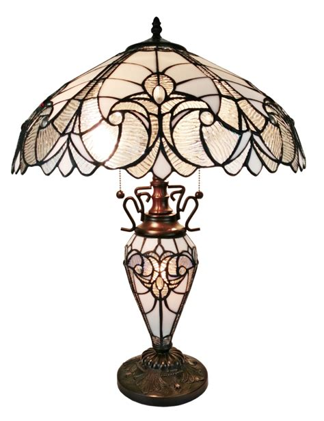 double lit tiffany style ls amora lighting am203tl18 tiffany style floral white double
