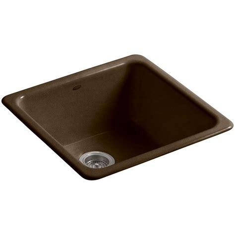 single bowl cast iron kitchen sink kohler iron tones drop in undermount cast iron 21 in 9301