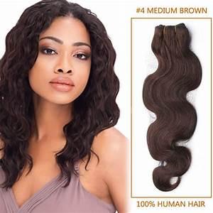 22 Inch Body Wave Hair Chart 14 Inch 4 Medium Brown Body Wave Brazilian Hair Wefts