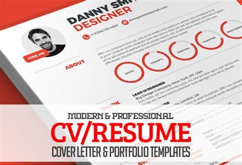 modern cv resume templates cover letter portfolio page