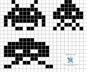 DIY 8 Bit Wall Art! Nerdy Crafts! - Some of This and That