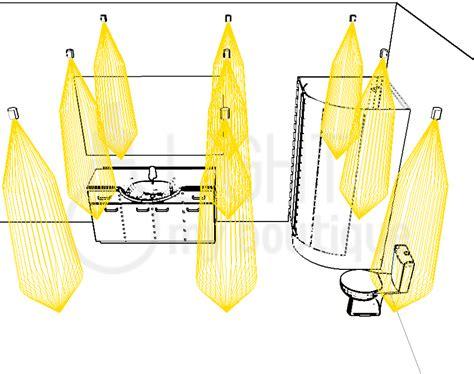 eclairage de la salle de bain d un hotel avec petits spots encastres