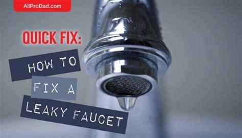 quick fix   fix  leaky faucet  pro dad