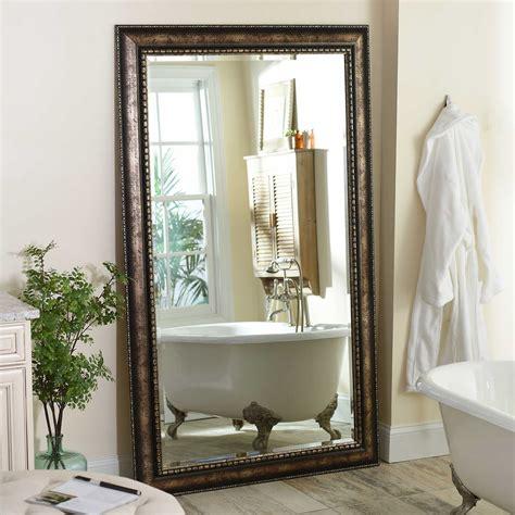 floor mirror 46 x 76 antique silver leaner 46x76 in mirror kirklands
