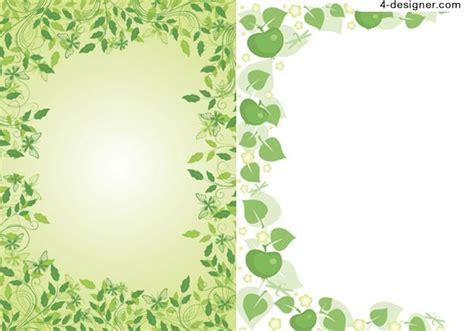 plant border designs 4 designer 2 green lace vector material