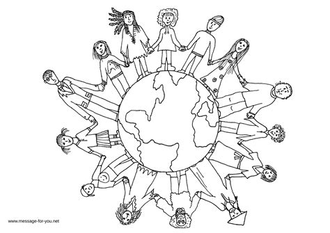 Children Of The World Coloring Pages