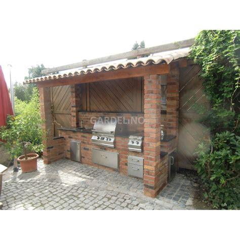 Gartenmöbel Selbst Gebaut by Outdoork 252 Che Aus Backstein Mit Magic Einbau Gasgrill