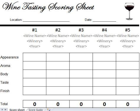 wine tasting scorecard wine tasting sheet