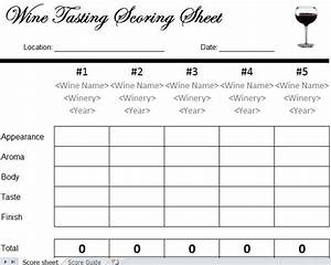 Wine tasting scorecard wine tasting sheet for Wine tasting sheet template