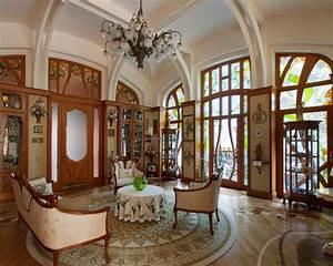 Art nouveau interior design with its style decor and for Art deco interior paint colors