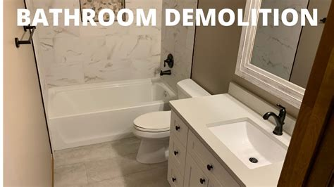 bathroom demolition home renovation tips youtube