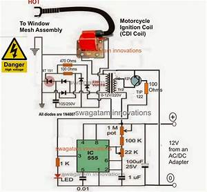 Mosquito Killer Circuit With Window Trap