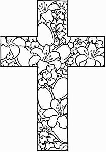 coloring pages of cross - 25 religious easter coloring pages business crosses