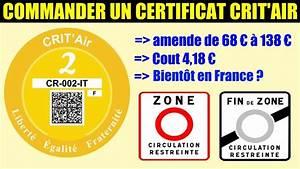 Vignette Crit Air Obligatoire Ou Pas : crit 39 air commander vignette antipollution acheter certificat obligatoire zone circulation ~ Maxctalentgroup.com Avis de Voitures