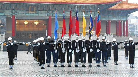 Taipei, Taiwan 2014年12月28日-104年元旦升旗會操預演-三軍儀隊於中正紀念堂