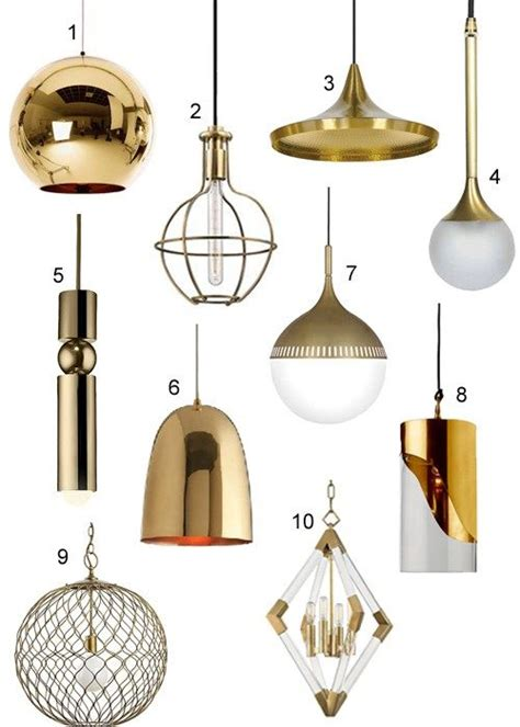 modern brass pendant lights  kitchens baths
