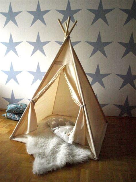 Tipi Zelt Kinderzimmer Dawanda by Dekoration Wigwam Natur Indianerzelt Ein