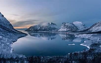 Polar Night Landscape Painting Canvas Artwork Edges