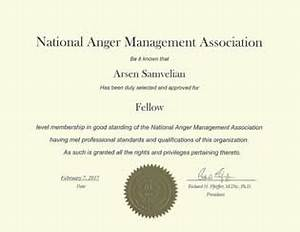anger management certificate of completion template choice With anger management certificate template