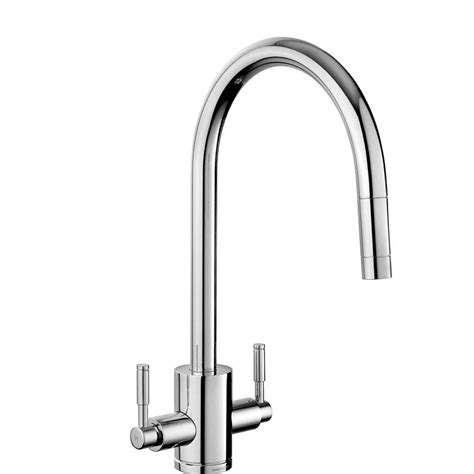pull out kitchen sink taps rangemaster aquatrend tre1pobf pull out brushed tap 7606