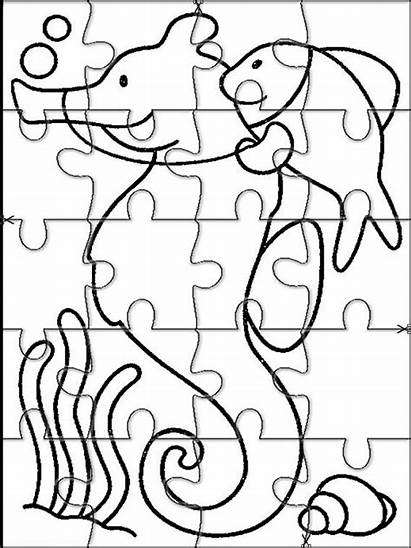 Puzzles Printable Animales Puzzle Jigsaw Colorear Marinos