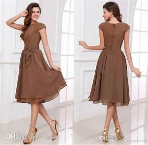 simple modest short chiffon cheap bridesmaid dresses short With below the knee dresses for wedding guests