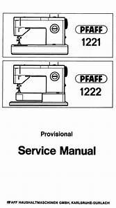 Pfaff 1221 1222 Service Manual
