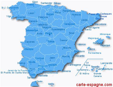 Carte D Espagne Avec Villes by Carte Villes Espagne