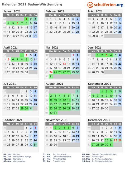 Gesetzliche feiertage 2021 in deutschland. Kalender 2021 + Ferien Baden-Württemberg, Feiertage
