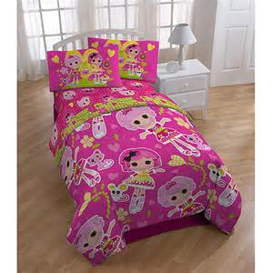 lalaloopsy 4 piece reversible bedding set with bonus tote