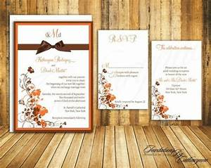 picture of stylish and elegant fall wedding invitations With diy wedding invitations fall theme