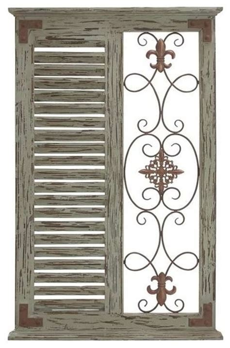 I have seen many different styles (plain wood against a white wall, painted wood on a painted wall…) and wanted to try something slightly different. Classic Pine Wood Metal Wall Panel and Parallel Slats of Wood - Rustic - Wall Sculptures - by ...