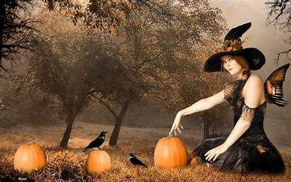Witch Halloween Wallpapers Desktop Holiday Wallpapercave