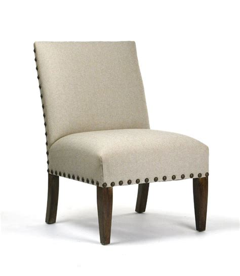 linen chair with nailhead trim traditional living room